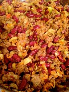 Close up chili beef