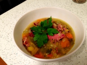Smoked Ham & Winter Veg Soup
